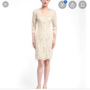 New with tags Sue Wong champagne embroidered dress